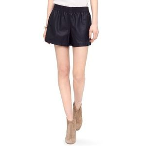 Club Monaco, sz 0 Perforated Faux Leather Shorts